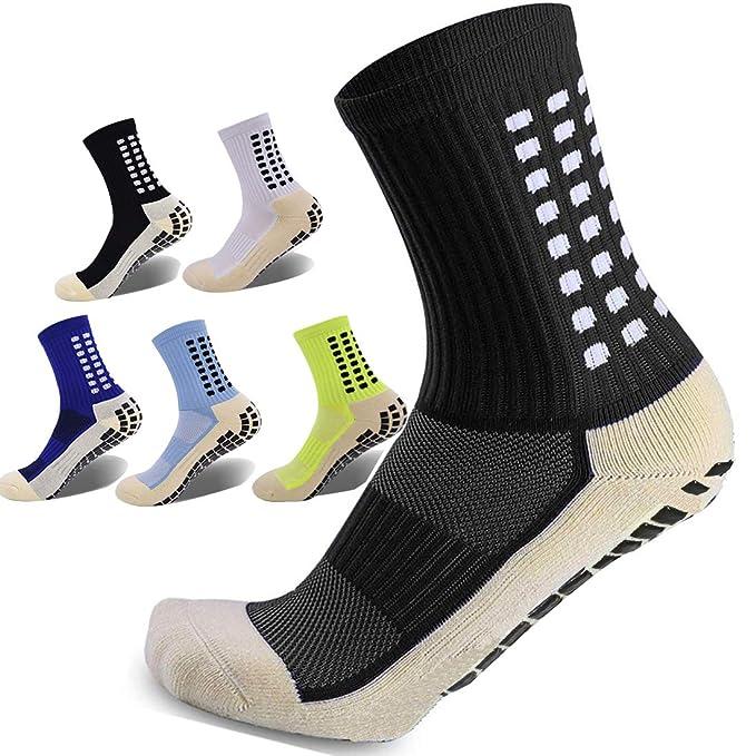 Non Slip Sport Socks Anti Non Skid Basketball Socks soccer Socks Unisex Gripper Socks for Men Women…