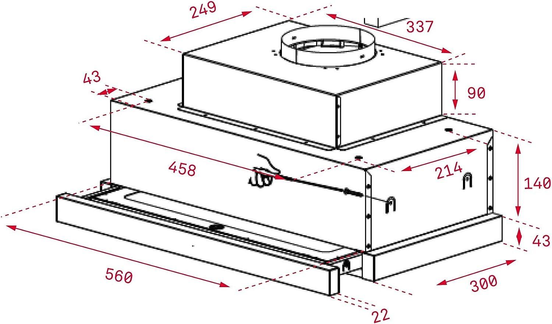 Teka CNL 6815 PLUS Semintegrada (extraíble) Acero inoxidable 730m³/h - Campana (730 m³/h, Recirculación, A, A, C, 53 dB): 158.06: Amazon.es: Grandes electrodomésticos