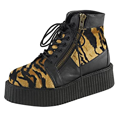3fcbe98fba631 Amazon.com   Mens Animal Print Boots Lace Up High Top Sneakers ...