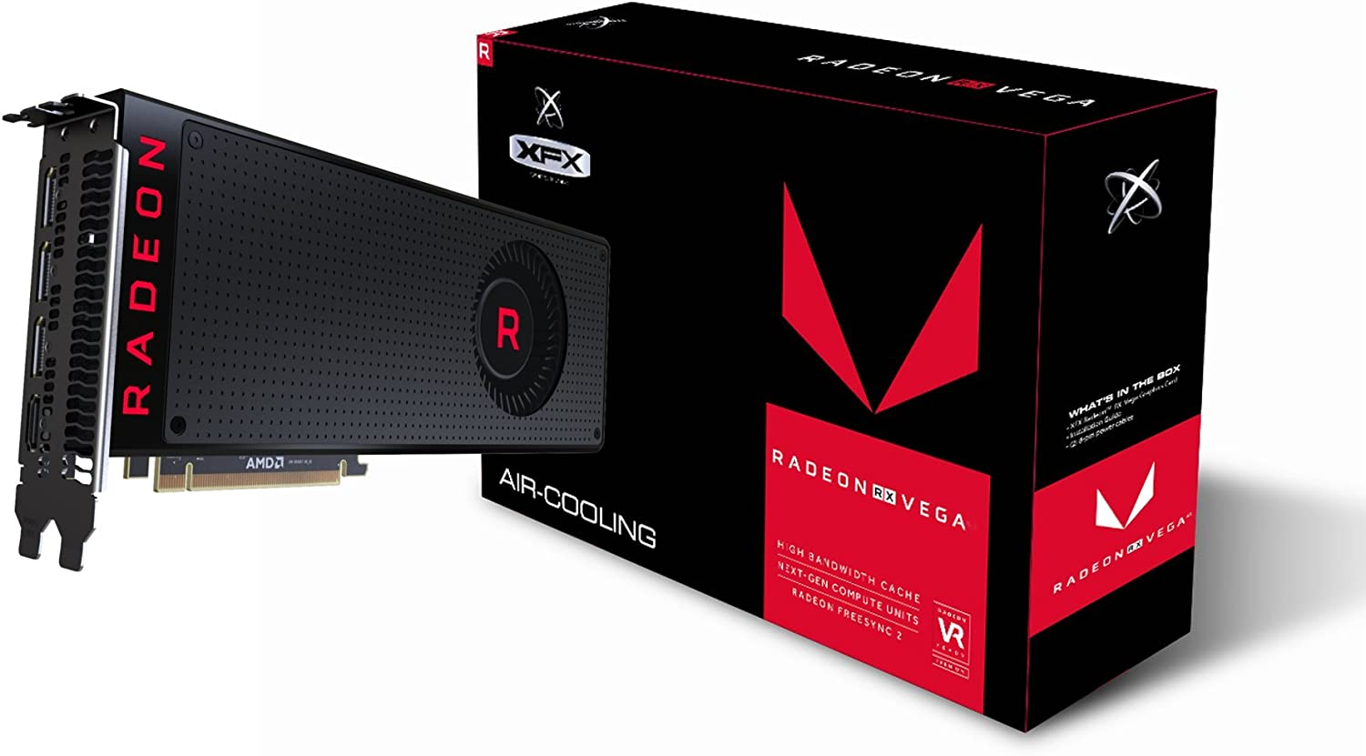 Amazon Com Xfx Radeon Rx Vega 56 8gb 3xdp Hdmi Graphic Cards Rx Vegmlbfx6 Computers Accessories