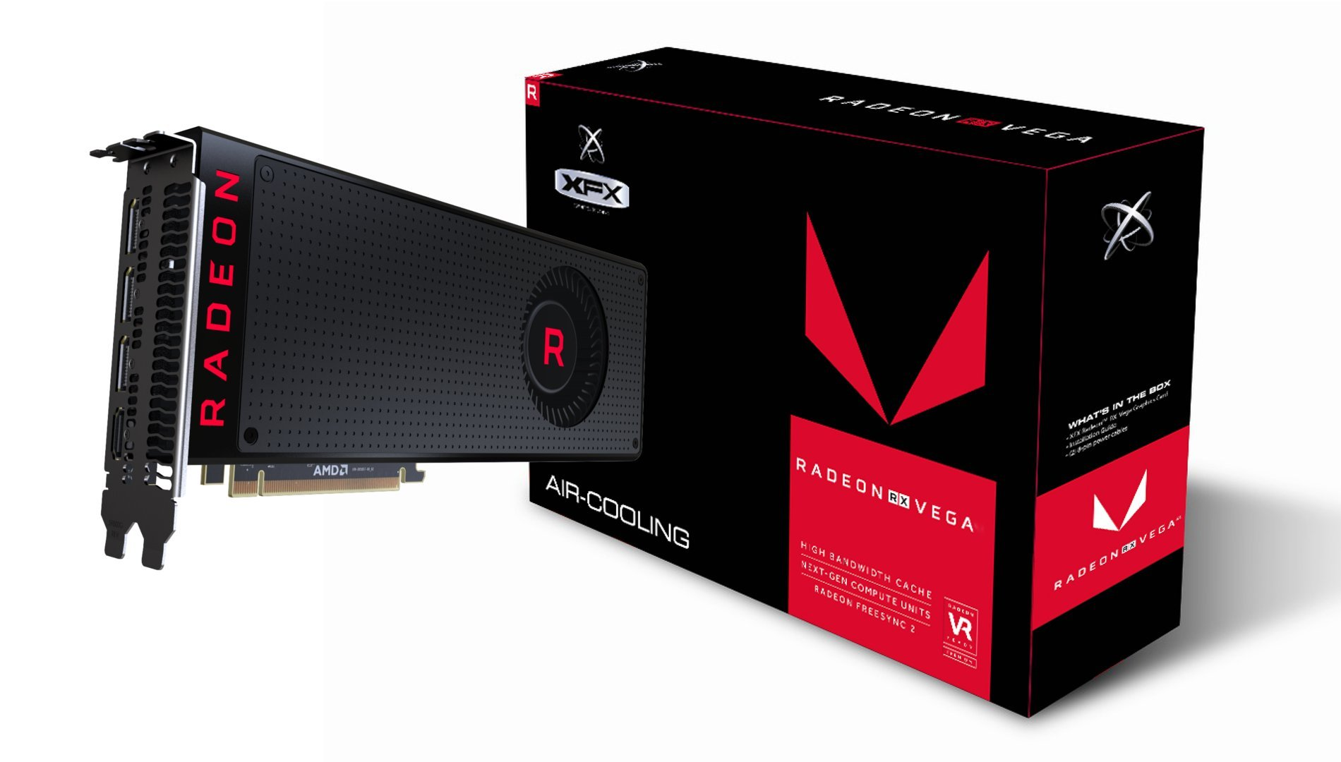 XFX Radeon Rx Vega 56 8GB 3xDP HDMI Graphic Cards RX-VEGMLBFX6 by XFX