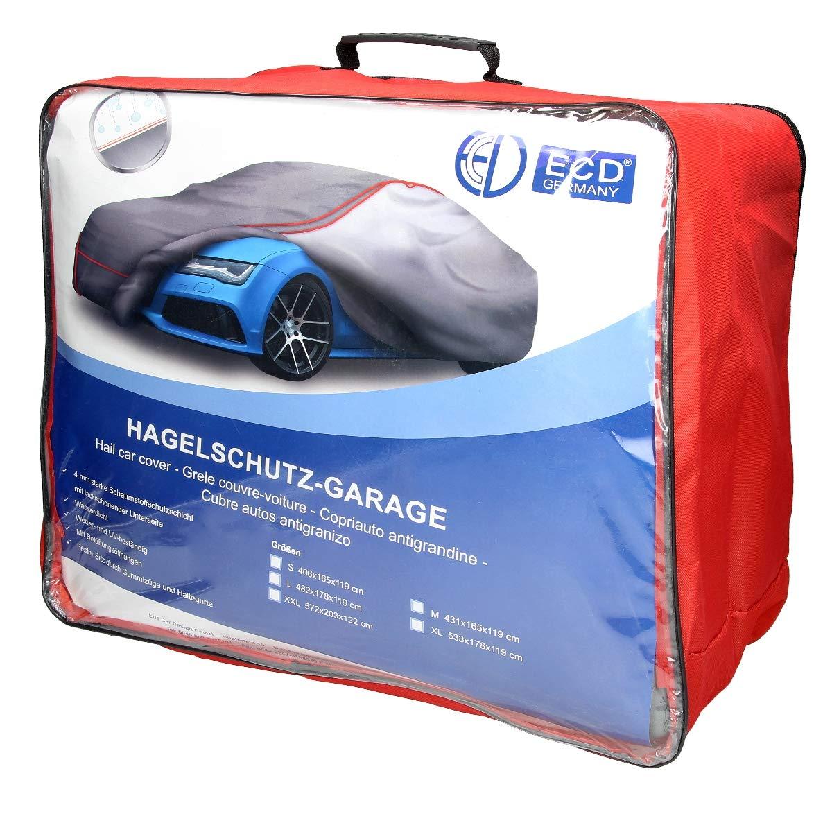 r/ésistant aux UV et aux intemp/éries ECD Germany Housse de protection contre la gr/êle pour voitures taille L 482 x 178 x 119 cm L xlx H - imperm/éable /à leau