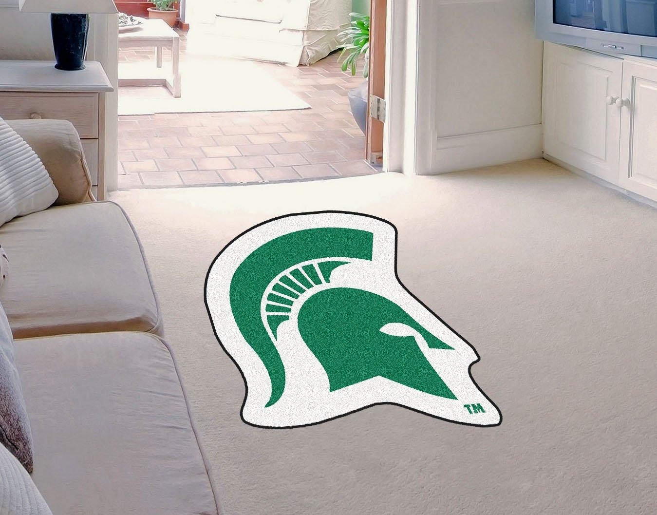 FANMATS NCAA Michigan State University Spartans Nylon Face Mascot Rug