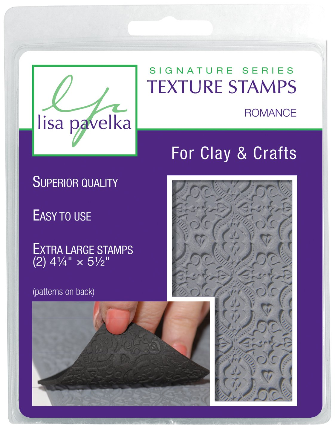 JHB International Inc Lisa Pavelka 327020 Texture Stamp Kit Romance by JHB International Inc