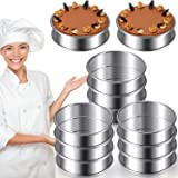 3.15 Inch Muffin Rings Crumpet Rings Stainless Steel Muffin Rings Molds Double Rolled Tart Rings Circular Round Tart…