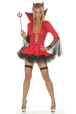 Costume Déguisement Sexy Démon Diablesse Lingerie Coquine Halloween