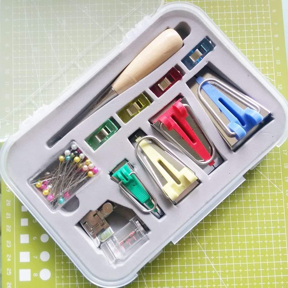 BOX yicbor Set von 5/Gr/ö/ßen Schr/ägbandformer 6/mm 9/mm 12/mm 18/mm 25/mm Stoff n/ähen Quilting Schr/ägband Maker BTM-4