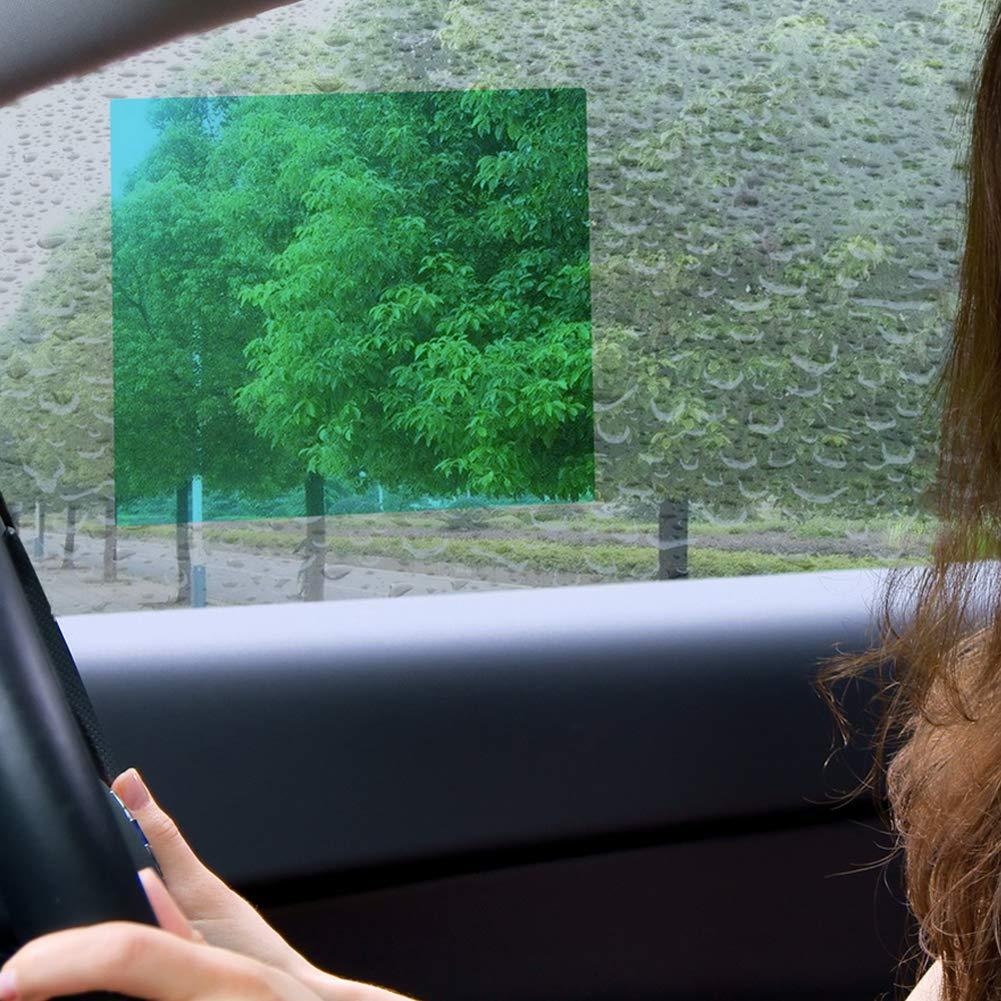 omufipw 2 pack Car Anti Rain Film,Hd Clear Nano Coating Snowproof Waterproof Anti-Fog Anti-scratch Protector for Car Side Windows