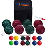 Bocce Ball Set - 3 size options 90, 100, or 107 mm by Rally and Roar – Complete Bocce Yard and Lawn Game with Carrying and Storage Case – Family Fun Outdoor, Backyard, Beach Game