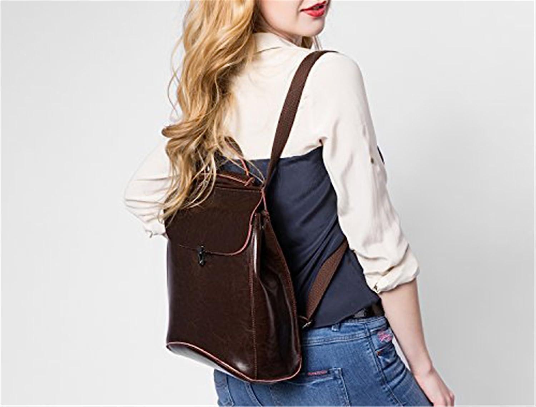 Dapengzhu Leather Backpacks Purses Convertible Shoulder Bag School Bag for Girls Hot sell