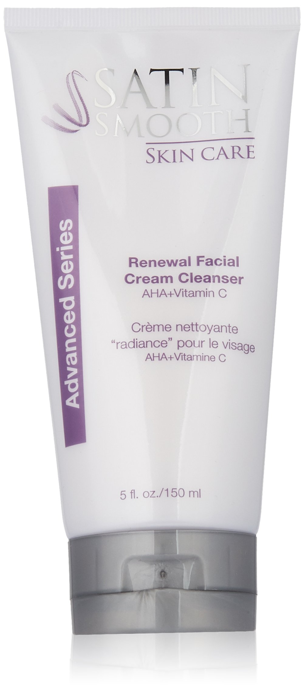 Satin Smooth Skin Care Facial Renewal Cream Cleanser, 5 Ounce