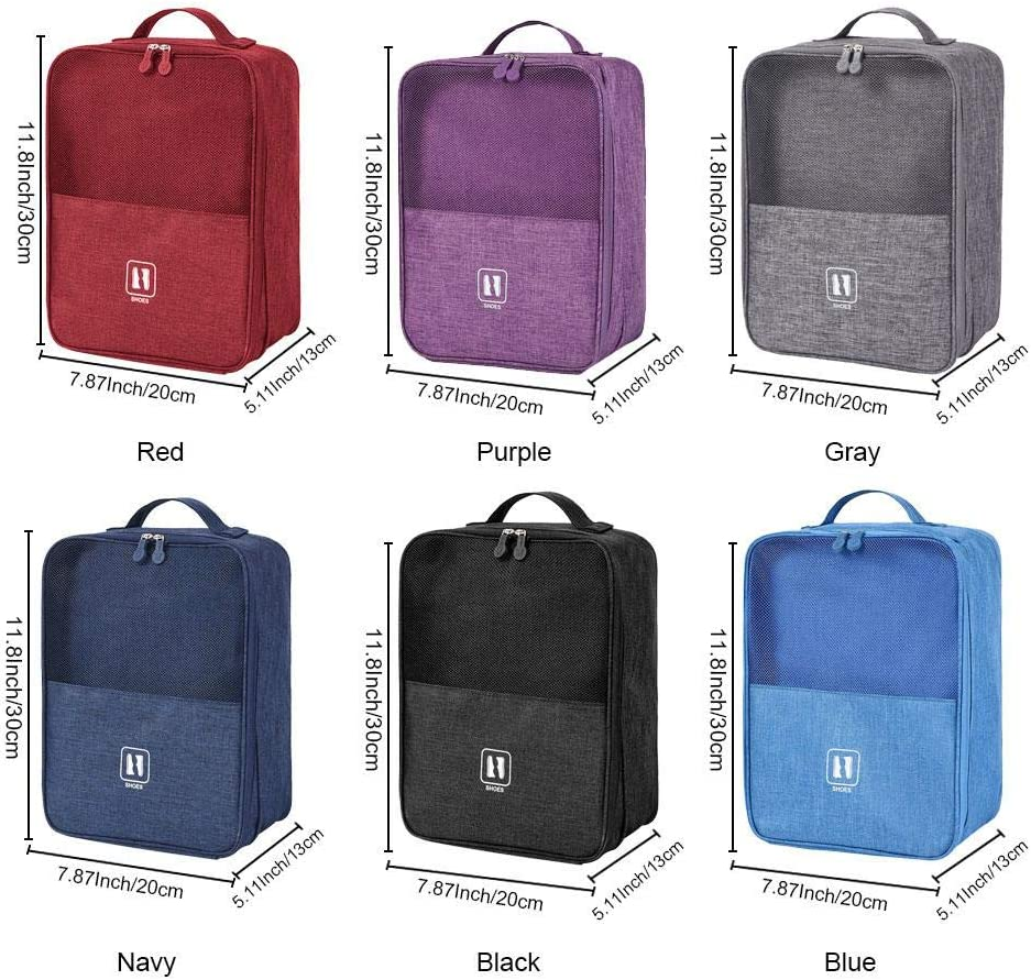 OOOUSE Travel Shoe Bags Hung on The Trunk Pole for Travel and Daily Use Storage Pouch Holds 3 Pair of Shoe
