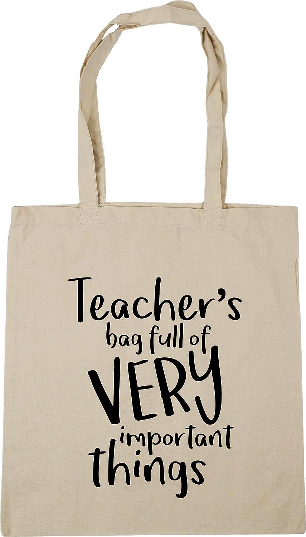HippoWarehouse Teachers Bag Full of Very Important Things Tote Shopping Gym Beach Bag 42cm x38cm 10 litres