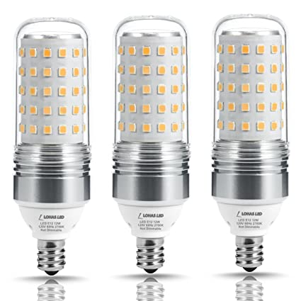 Lohas Led Candelabra Bulb 100w Equivalent Light Bulbs E12 Base 12w