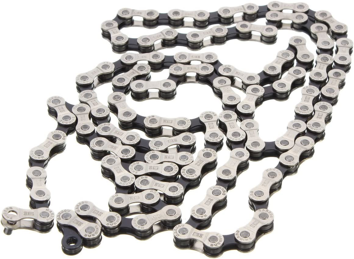 Steel Chain IG51 Compatibility 6-7-8 Speed w// 116 Links for Shimano Bike Bicycle