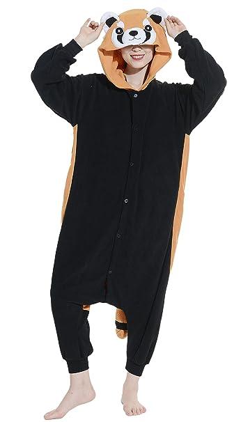 Fandecie Pijama Mapache, Onesie Modelo Animales para adulto entre 1,60 y 1,75 m Kugurumi Unisex.: Amazon.es: Ropa y accesorios
