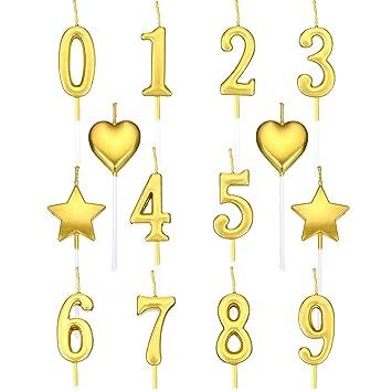 El Juego de Velas de Cumpleaños Incluye 10 Piezas Número de ...