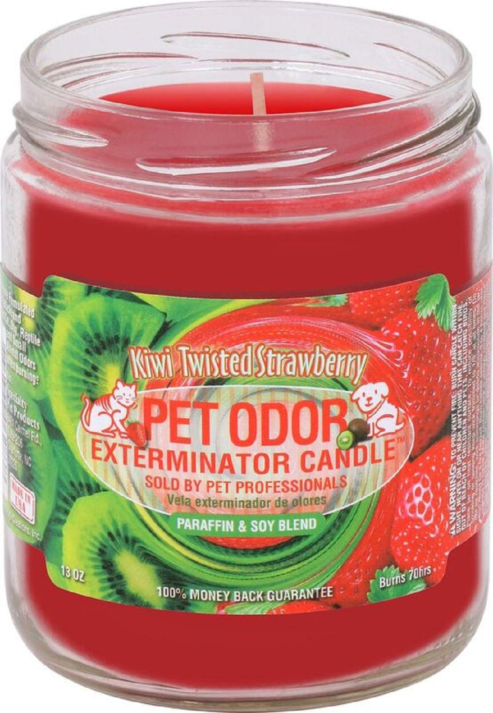 Specialty Pet Products Kiwi Twisted Strawberry Pet Odor Exterminator 13 Ounce Jar Candle