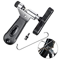 Tagvo Bike Chain Tool, Universal for 7 8 9 10 Speed Chain Link Repair Removal with Backup Stainless Steel Pin, Easy Using Bicycle Chain Splitter Cutter Rivet Remover Portable for Road Mountain Bike