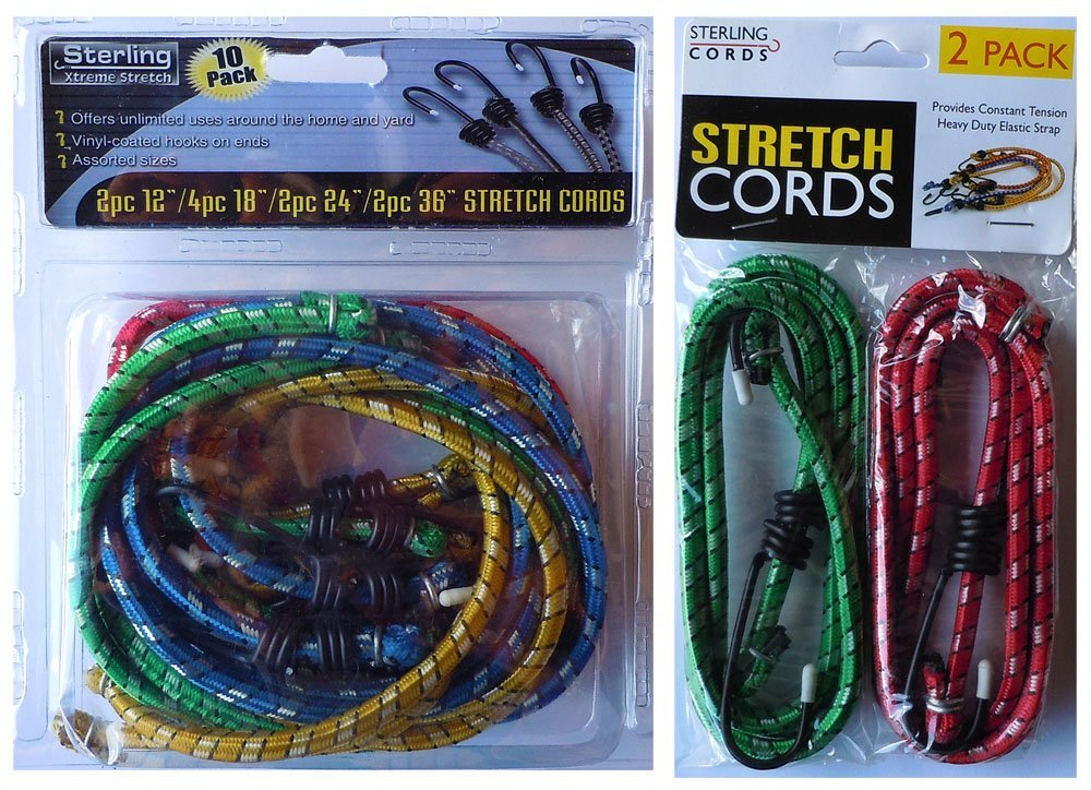 18 24 36 /& 42 12 CORDS 18 24 12 Sterling Xtreme Stretch Bungee Cords Assorted sizes 12 12 CORDS 36 /& 42