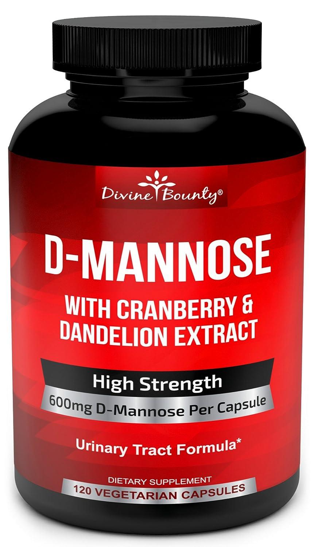 3. Divine Bounty D-Mannose Capsules