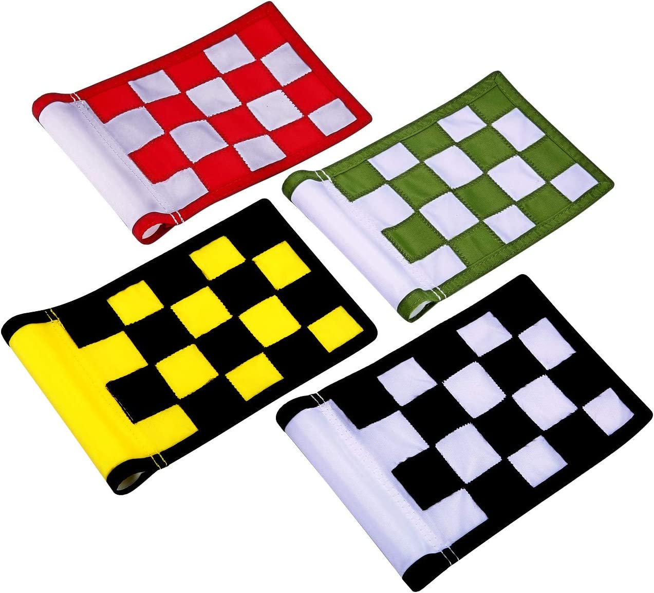 KONDAY Golf Flag,Green Golf Flags,Solid Nylon and Checkered Training Golf Putting Green Flags