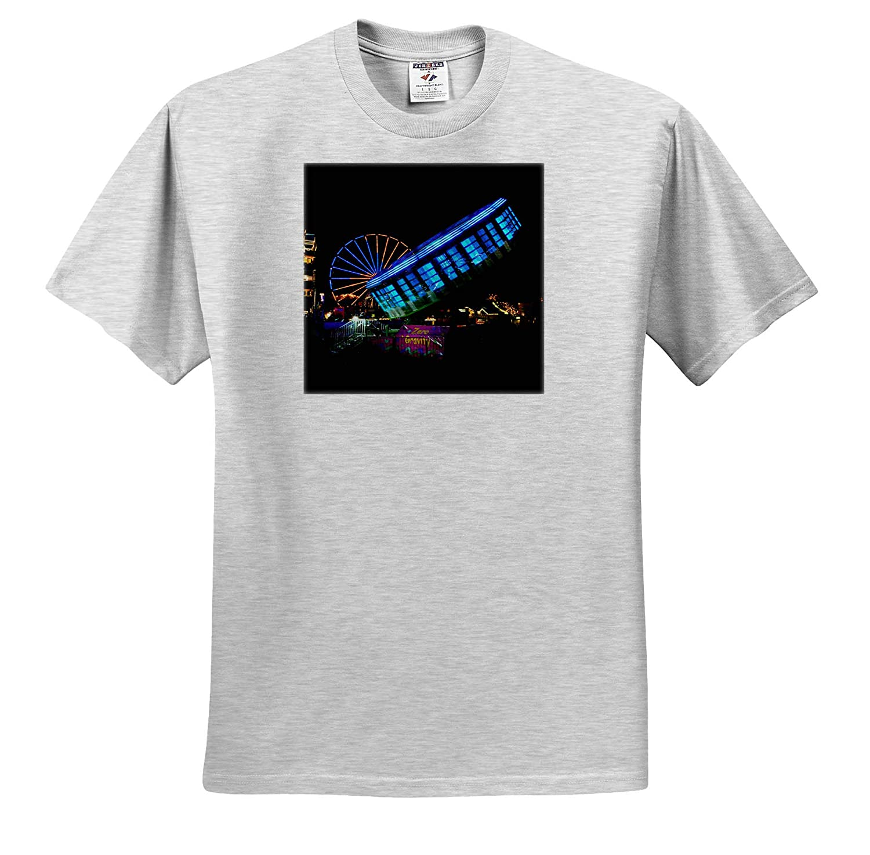 fair Midway carvinal Rides gravitron Zero Gravity 3dRose Susans Zoo Crew Scenery T-Shirts