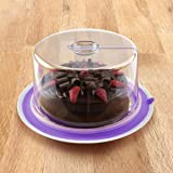 PlateTopper Universal Cake Topper Microwave Cover Leftover Lid Airtight #Purple