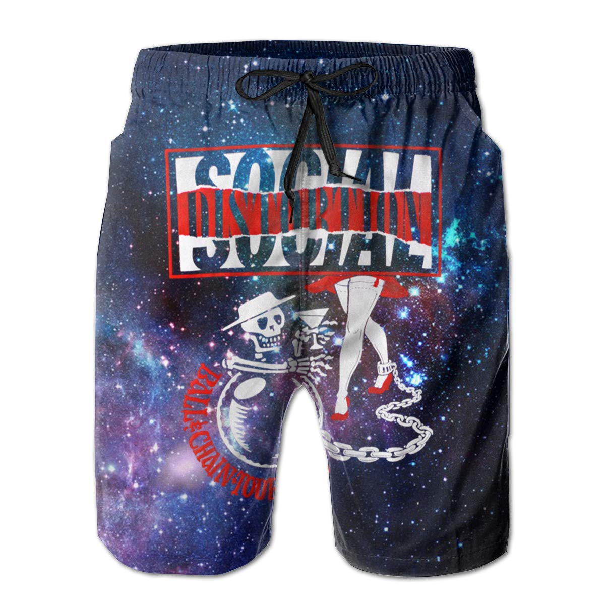 ReneaGrigsbyw Mans Social Distortion Music Band Comfortable Beach Board Shorts Quick-Drying Drawstring Surfers Shorts