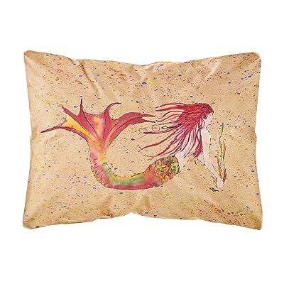 Caroline's Treasures 8339PW1216 Mermaid Canvas Fabric Decorative Pillow, 12H x16W, Multicolor : Garden & Outdoor