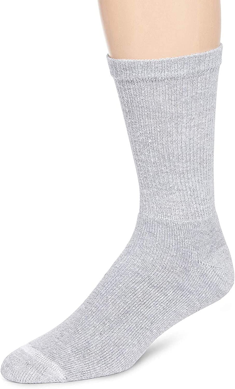 Hanes Crew socks ComfortBlend super soft cotton, Shoe Size 6-12, Pack of 6 Pairs