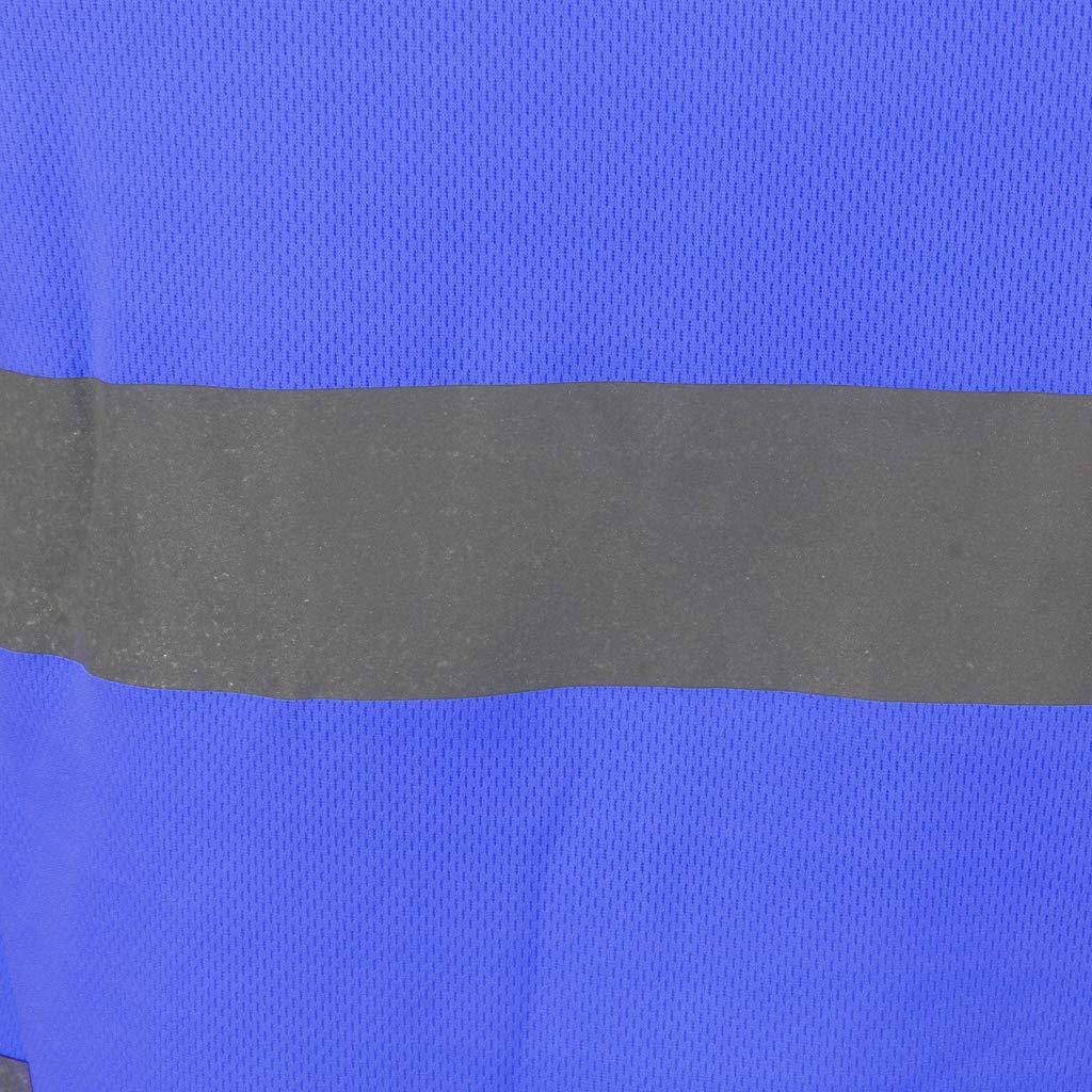 Baosity High Viz T-Shirt Reflective Safety Short Sleeve Round Neck Tee Top L-XXXL
