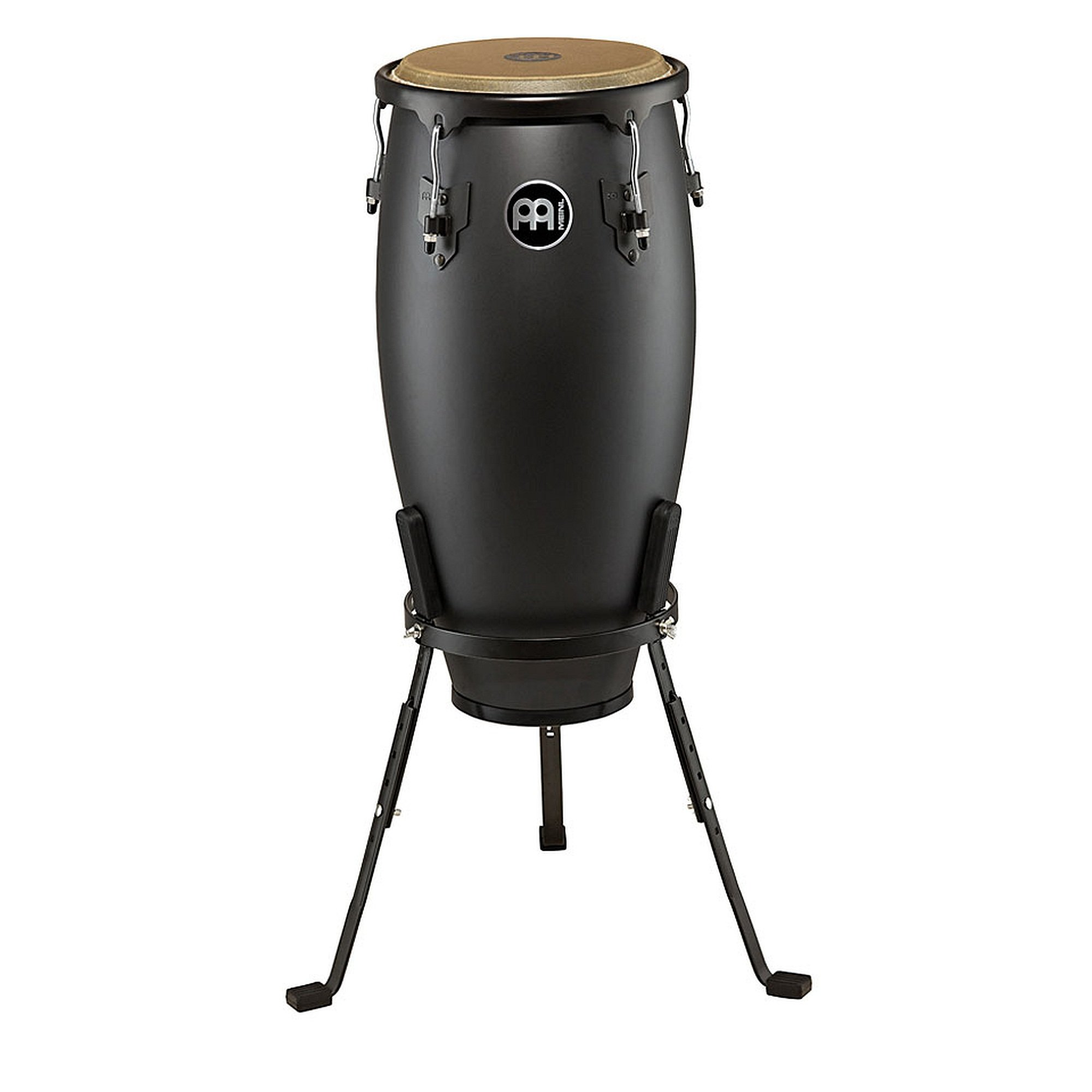 Meinl Percussion HC11PBK-M Headliner Designer Series 11-Inch Quinto with Basket Stand, Phantom Black by Meinl Percussion