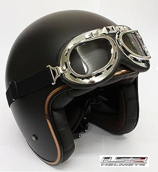Amazon.es  Cascos de moto color LS2 of583 Custom Bobber Retro casco ... 7ac520e2786