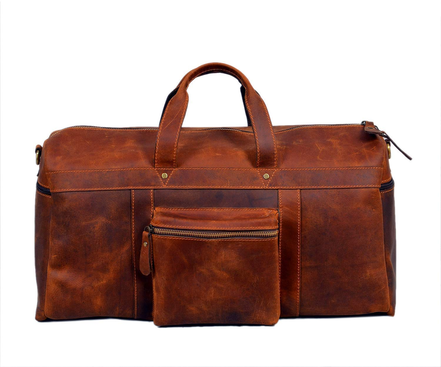 Men/'s Leather Handmade Vintage Duffle Luggage Weekend Gym Overnight Travel Bag