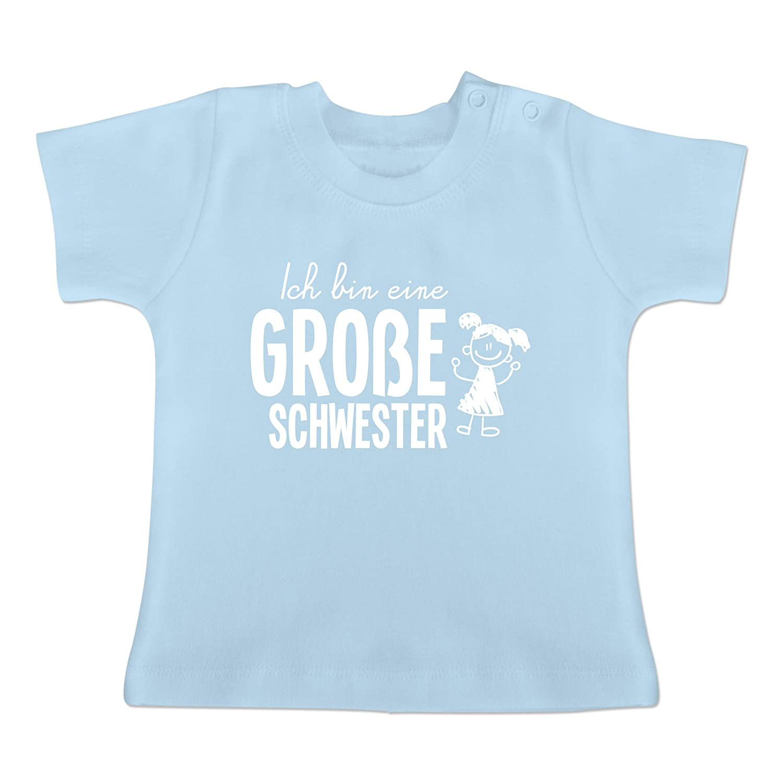 Einzelkind gro/ße Schwester mit Eulen Geschwisterliebe Baby Baby T-Shirt Kurzarm