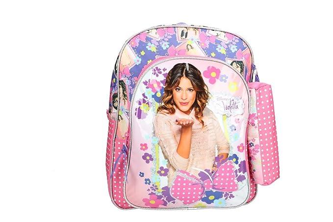 Mochila niña DISNEY VIOLETTA bolsa de ocio escolar rosa VZ340: Amazon.es: Ropa y accesorios