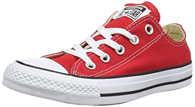b27e3658aa65 Converse Unisex Chuck Taylor All Star Ox Low Top Classic Burgundy Sneakers  - 4 D(
