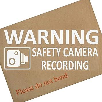 WARNING Safety Camera Recording Warning Stickers-CCTV Sign-Car,Taxi 1 x 200mm