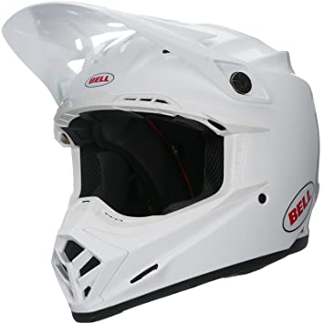 Bell Cascos MX 2017 Moto-9 Flex adultos casco, color blanco, talla 2
