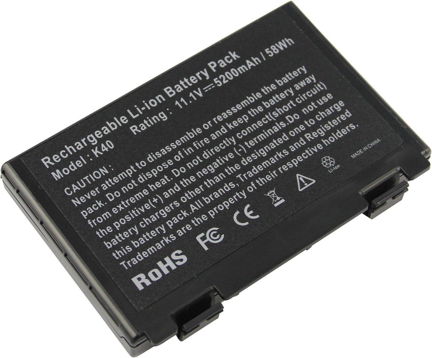 Futurebatt 6 Cell Laptop Battery for ASUS k61ic K60IJ K50IJ K50I K60I A32-F82 A32-F52 X8D X8B