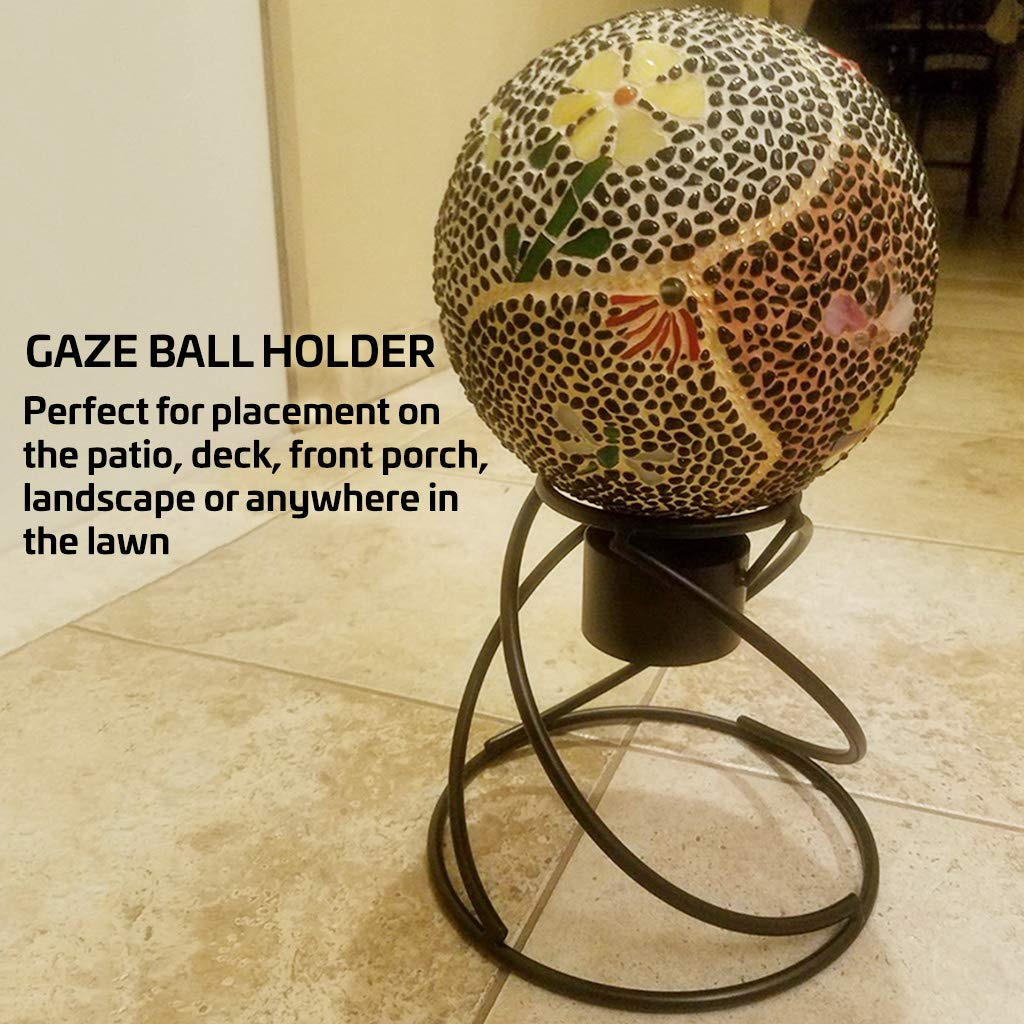 Gaze Ball Holder Small Helix Globe Stand Powder-Coated and Hand-Welded to Ensure Years of Use and Enjoyment Weatherproof; Can Be Used Indoors or Out Stand Is 8'' Tall Beautiful Spiral Design by AnySeasonStore (Image #2)