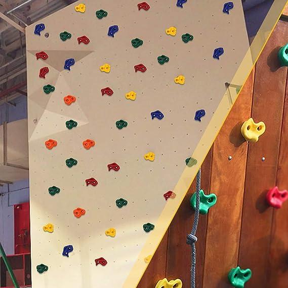 Hengda presas de Escalada para Niños 25 Piezas de Juego de Iniciación de Piedras de Escalada, Piedras de Roca para Pared de Escalada para Torre de ...