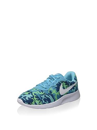 Nike Damen Wmns Tanjun Print Sportschuhe Blu/Bianco-Verde-Verde (GMM Bl/White-Ghst Grn-Grn Abys) 36.5 EU