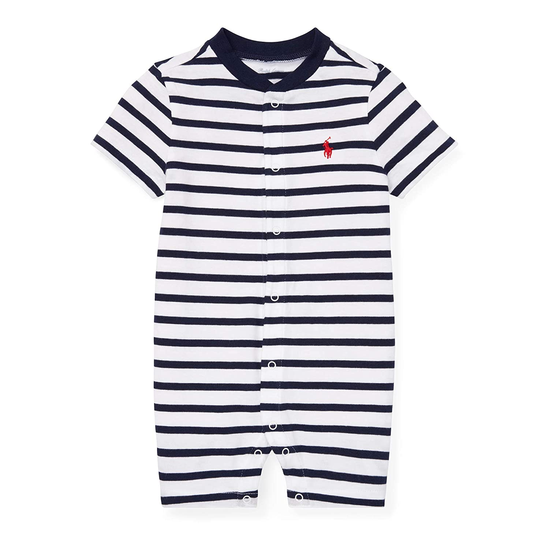 Ralph Lauren Baby Boy Striped Cotton S//S Jersey Shortall