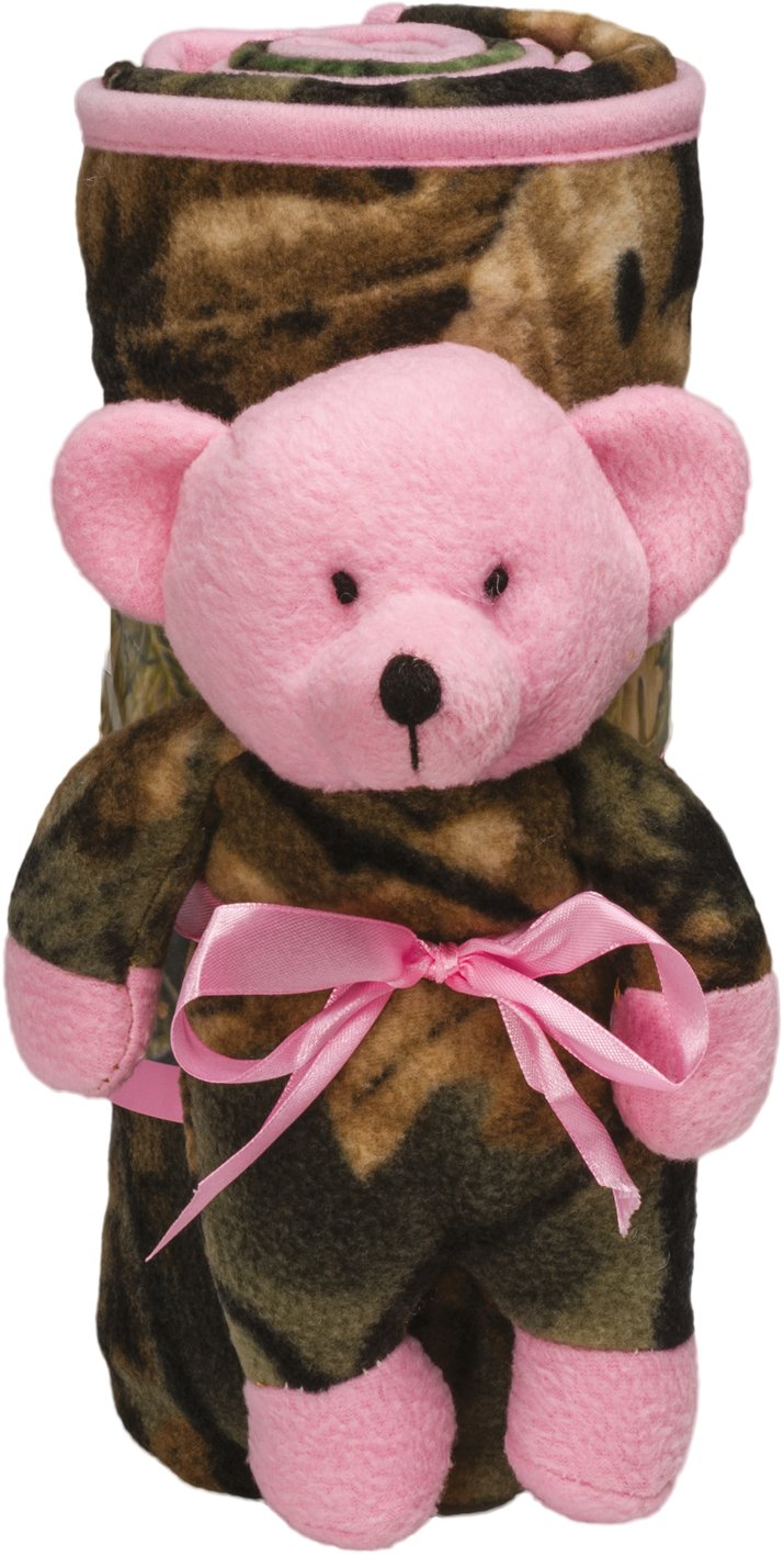 Baby Hunters Blanket and Bear Gift Set (Pink)