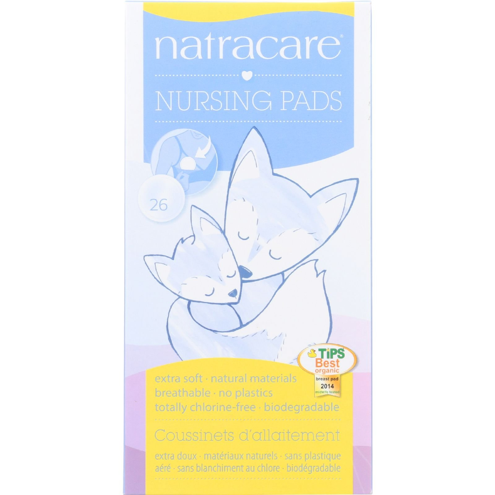 Natracare Natural Nursing Pads - No plastic - No perfumes - 26 Count (Pack of 2) by NATRACARE