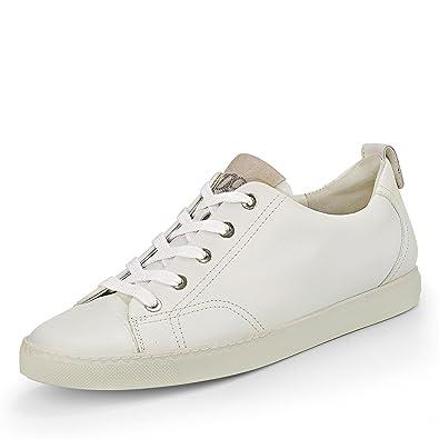 Paul Green 4258-051 Damen Sneaker Aus Glattleder Moderne und Flexible Laufsohle, Groesse 7 1/2, Weiß