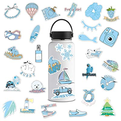 VSCO Stickers for Water Bottles, VSCO Girl Essential Stuff, 35 Pack Waterproof Vinyl Stickers Decals, Trendy Cute Stickers for Hydroflasks Laptop Phone Guitar, Water Bottle Stickers for Teens: Electronics