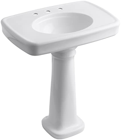 Merveilleux KOHLER K 2347 8 0 Bancroft Pedestal Bathroom Sink With Centers For 8u0026quot
